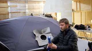 8 Weeks Winter Camping - Home For The Weekend, Attaching Stove Jack