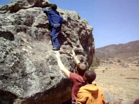 bouldering in Ethiopia, Africa