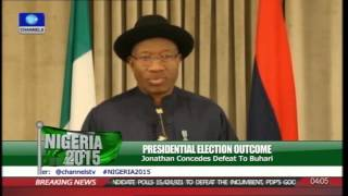 Concession Speech: PDP Should Be Celebrating Rather Than Mourning-- Jonathan