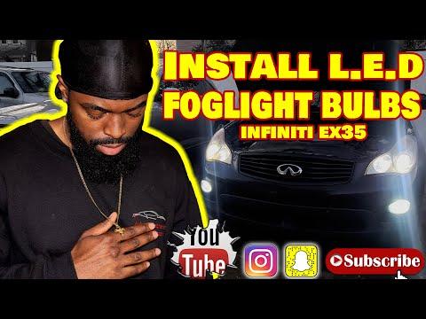 install l.e.d foglight bulbs infiniti ex35 diy