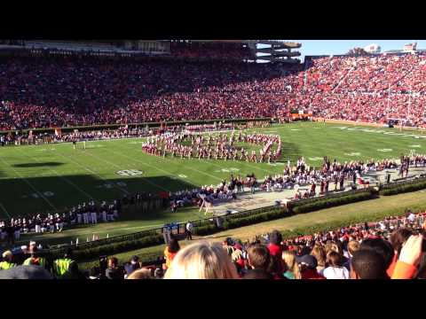 Alabama A&M band performance during Auburn
