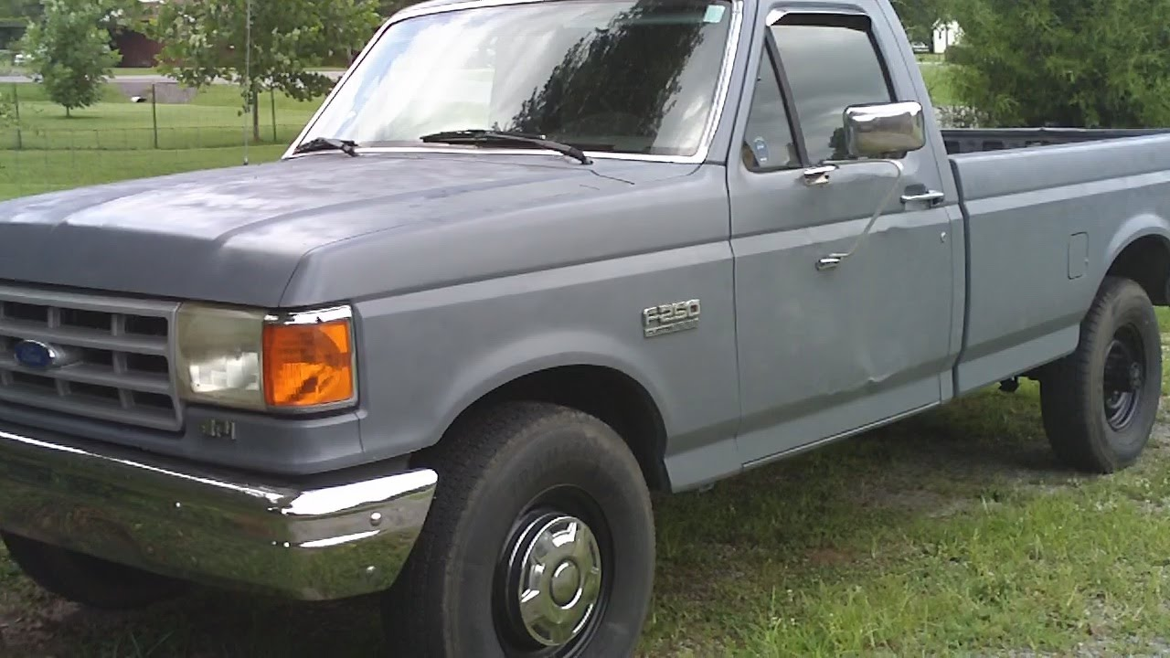 1991 ford f 250 hd paint and headlight update