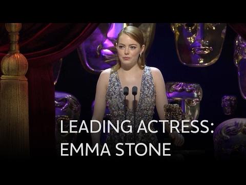 Emma Stone wins Best Leading Actress BAFTA for La La Land - The British Academy Film Awards 2017