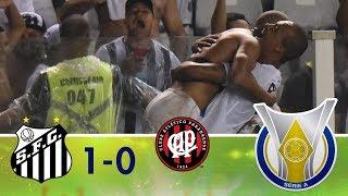 Melhores momentos - Santos 1 x 0 Atlético-PR - Campeonato Brasileiro (30/09/2018)