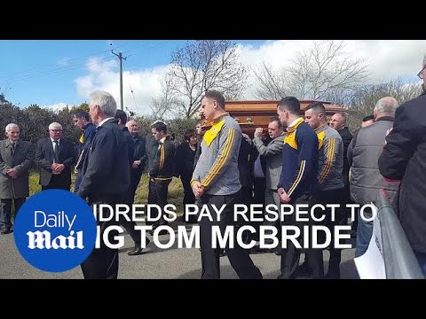 Hundreds attend Big Tom McBride's funeral in Oram - Daily Mail