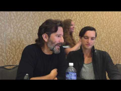 with Richard Harmon and Henry Ian Cusick of The 100  Comic Con 2016