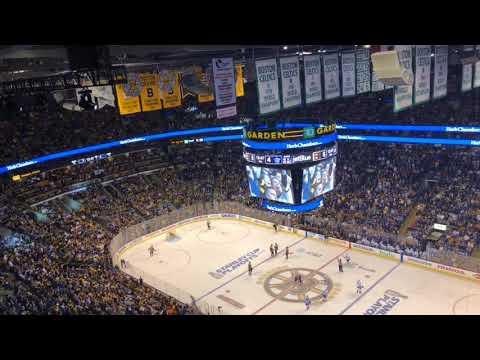 Boston Bruins fans sing Bon Jovi during Game 7 vs. Toronto