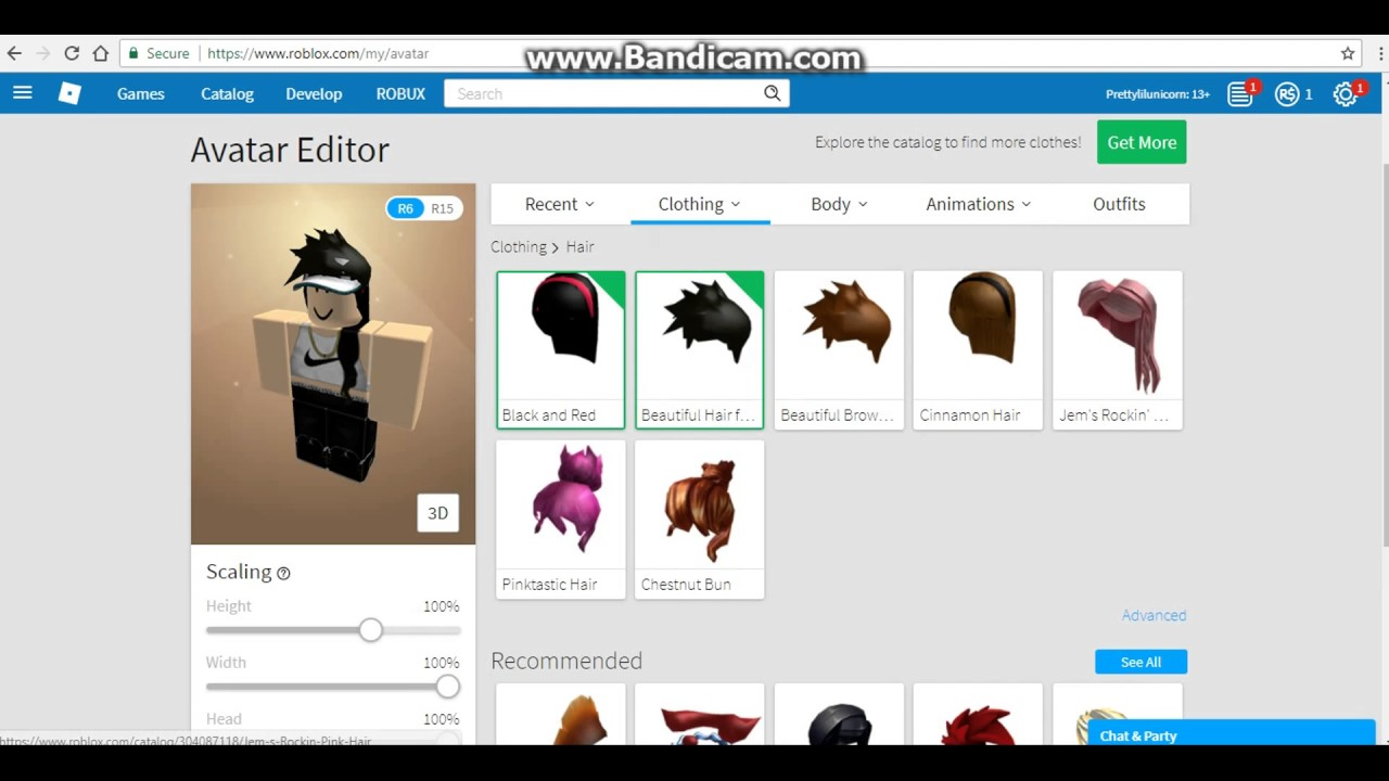 Hair Hack Video On Roblox Youtube