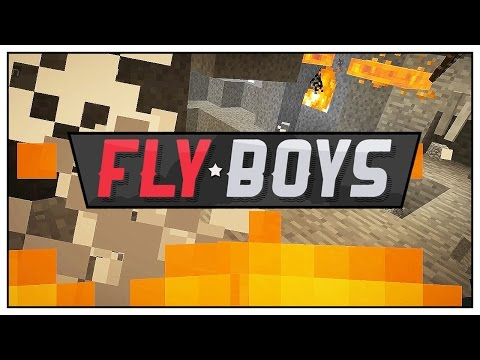Minecraft Mods FlyBoys - Hot Caving with Team Blue! - Episode 48
