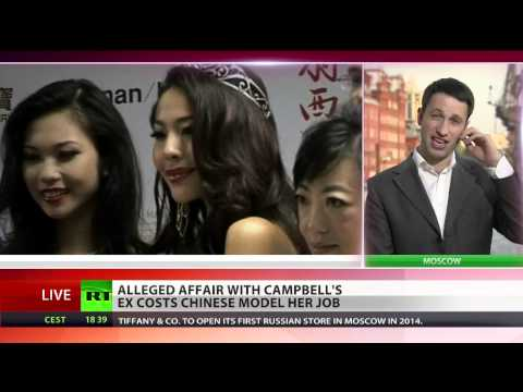 Chinese beauty queen fired, dating Naomi Campbell's Ex Vladimir Doronin