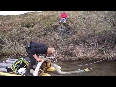 Setting Up The Gold Dredge In Alaska