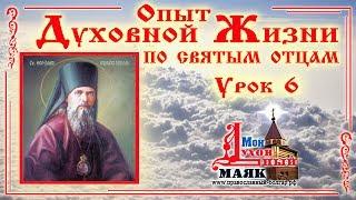 Духовная жизнь по св. Феофану Затворнику. Урок 6