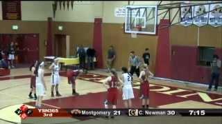 NBL Girls- Montgomery vs Cardinal Newman, 1-27-15