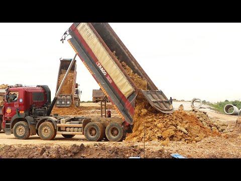 Incredible Construction Equipment , Bulldozer , Excavator , Dump Truck Heavy Working On Road
