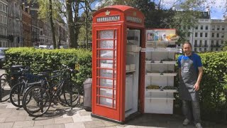 The second lives of England's iconic red phone booths