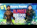 We Almost Beat the WORLD RECORD! - Fortnite