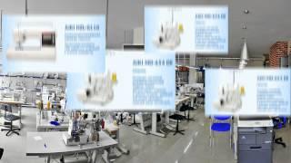 видео промышленное швейное оборудование
