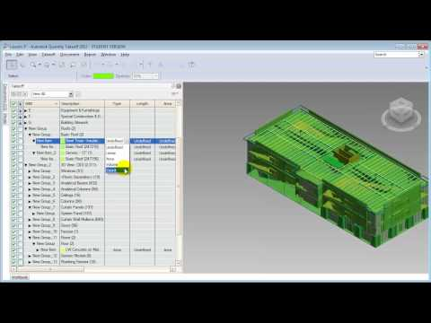 Revit Architecture, Autodesk QTO - Creating a Detailed Quantity Takeoff