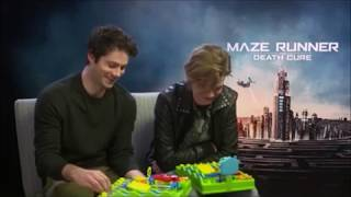 Dylan O'Brien & Thomas Brodie Sangster - Play a game - VOSTFR Maze Runner : Death Cure interview