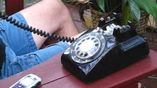 Old Rotary Dial Phone converted to cell phone