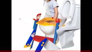 قاعدة تواليت و كرسي مساعدة الطفل استعمال المرحاض مزود بدرجات سلم Potty with ladder for babies