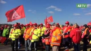 Streik im Glunz-Werk Nettgau