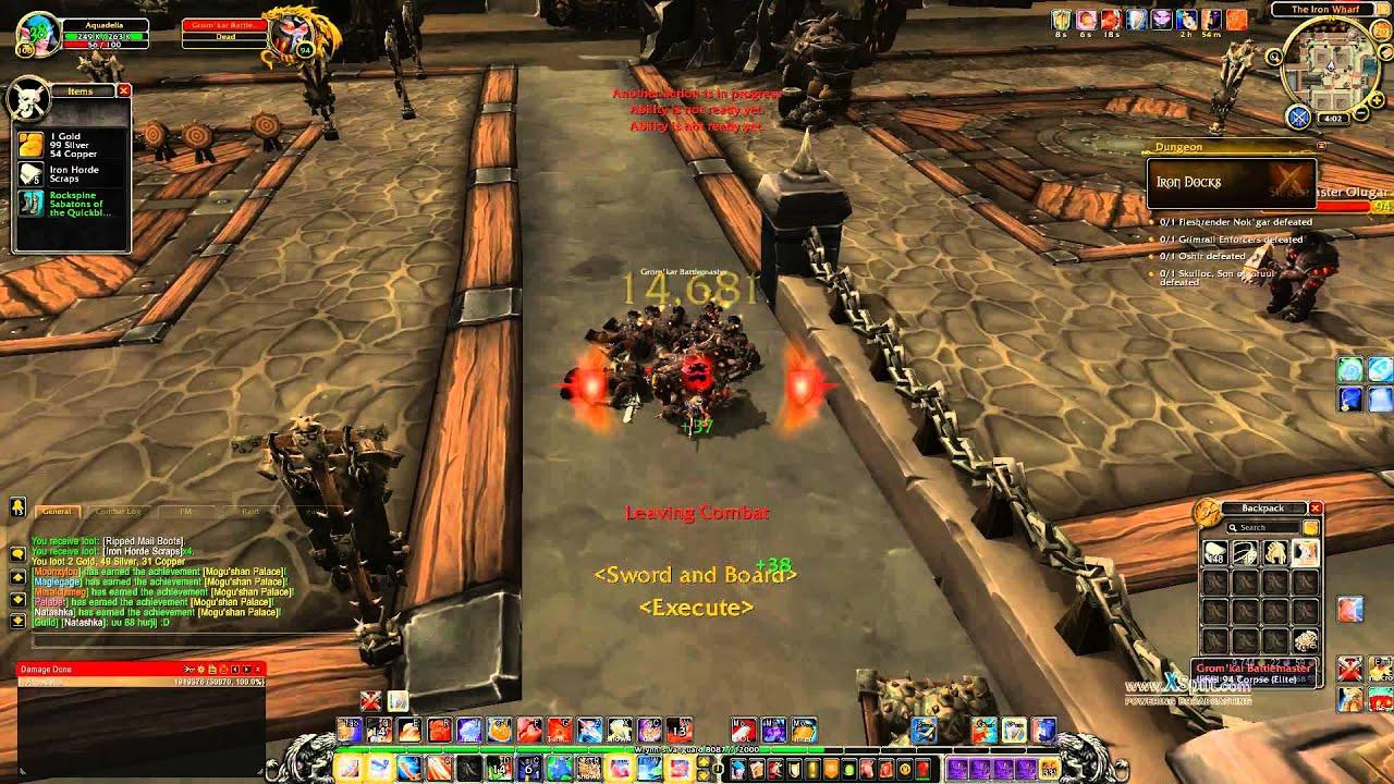 Iron Horde Scraps Farming Prot Warrior Solo Iron Docks 5man