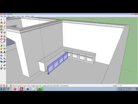 SketchUp #28 - Small House - Kitchen Base Cabinets - Brooke Godfrey