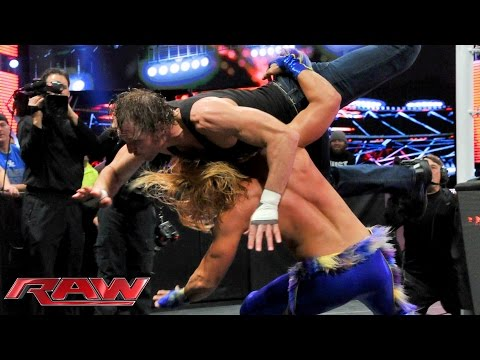 Dean Ambrose & Dolph Ziggler Vs. Kevin Owens & Tyler Breeze: Raw – 23. November 2015