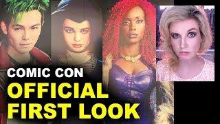 Titans TV Show Comic Con - Starfire, Beast Boy, Raven, Robin