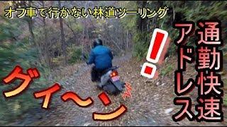 #4オフ車で行かない林道ツーリング スクーターで林道走破!?[MOTOVLOG#6]