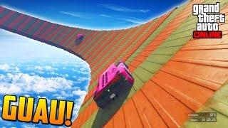 WALLRIDE SUPER RARO! + BUG DE COCHES!! - Gameplay GTA 5 Online Funny Moments (Carrera GTA V PS4)