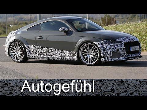 All-new Audi TT RS spotted @ Nürburgring spy shots camo car Erlkönig neu