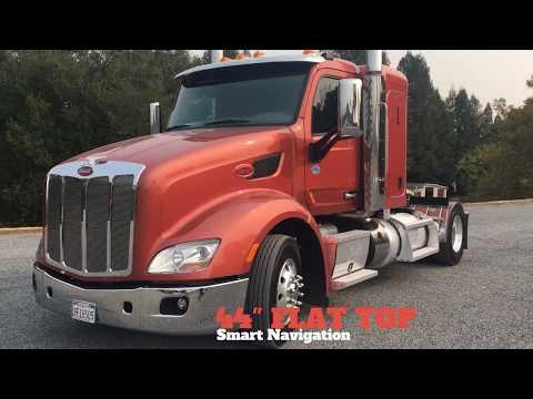 """2015 Peterbilt 579 Two Axle 44"""" Flat Top Sleeper / Charter Trucks - u11129"""