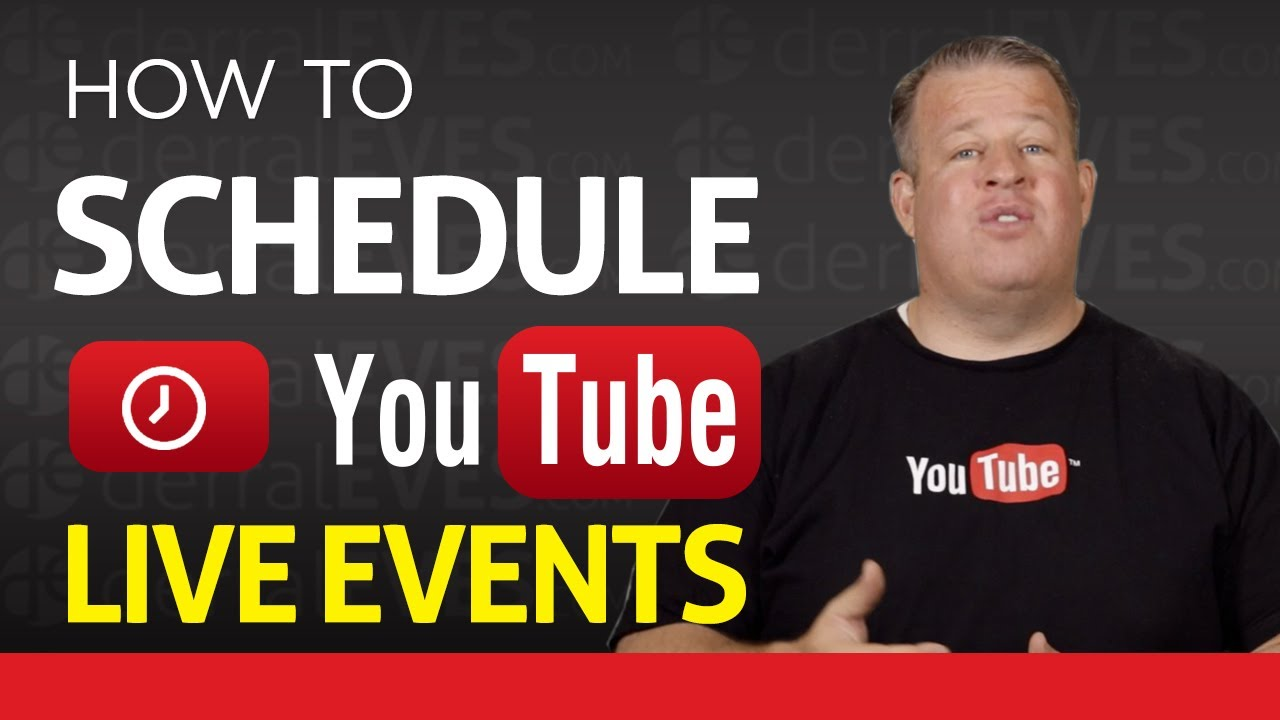 how to watch live events on youtube