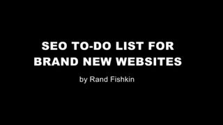 SEO To-Do List for Brand New Websites
