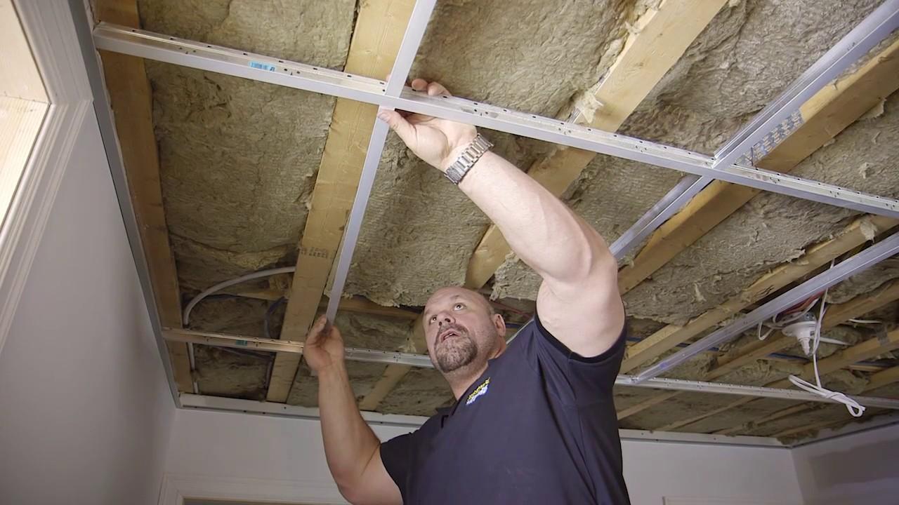 Installer Un Plafond Suspendu Youtube
