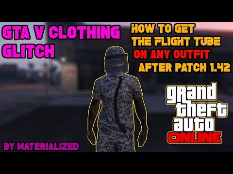 GTA 5 Online - How to Get the Flight Suit Tube/Hose on Any Outfit After 1.42