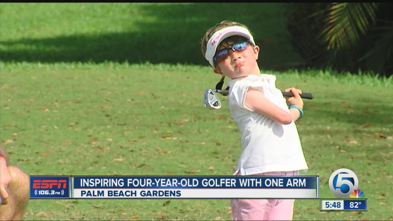 Inspiring 4-year-old golfer with one arm - YouTube