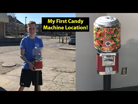 Placing My First Candy Machine To Start My Home Business!