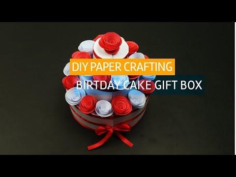 DIY Paper Crafting idea | Birthday Cake gift box