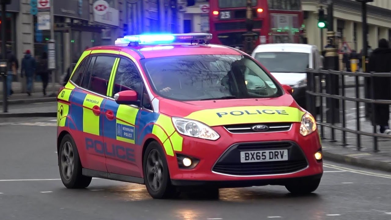 Red Armed Police Car Responding Canceling