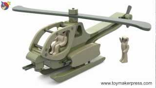 Wood Toy Plans - Vietnam War Helicopter