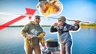 Ultimate CATCH and COOK on a BOAT!!! (Breakfast Tacos)