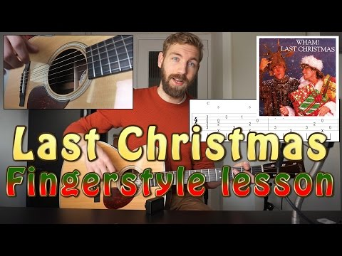 Last Christmas | Fingerstyle Guitar Lesson with Tabs