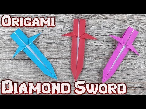 DIY Paper Toy Diamond Sword | How to Make A Paper Knife Weapons Tutorials | Origami Craft Kids