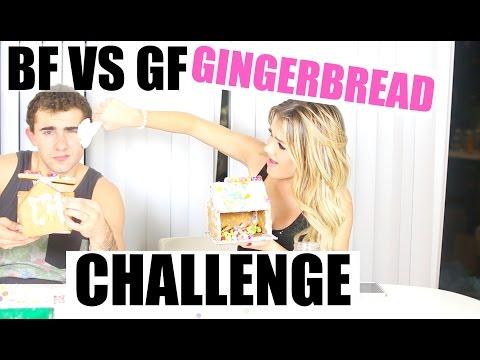 Boyfriend VS Girlfriend Gingerbread House Challenge