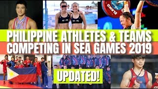 Updated! Philippines' Athletes & Teams Competing In Sea Games 2019 #seagames2019 #2019seagames