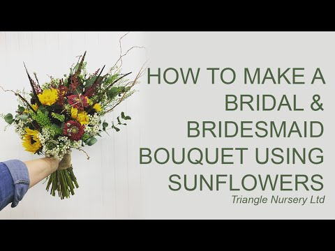 How to Make a Bridesmaid & Flower Girl Bouquet with Sunflowers
