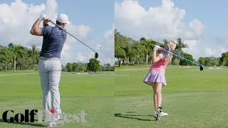 Brooks Koepka Battles 10-Year-Old Girl Madison Moman in a 5-Round Golf Challenge | Golf Digest
